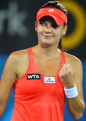 Red hot … Agnieszka Radwanska cruises to victory.
