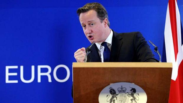 Fight ahead ... David Cameron has to confront Tory rebels.