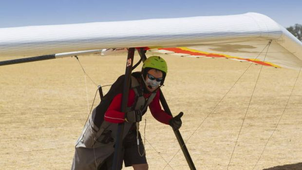 Trent Brown at the world hang gliding championships.