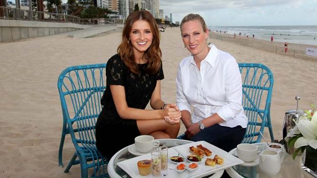 Kate Waterhouse and Zara Phillips.