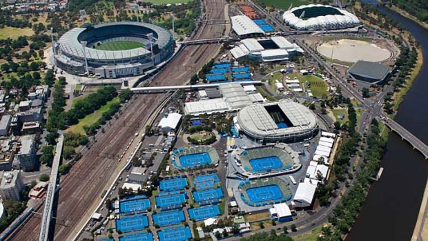City of tennis: With stage one complete, it's all go for the 2013 Australian Open.