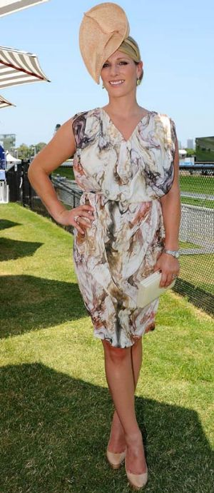 Big day out ... Zara Phillips.