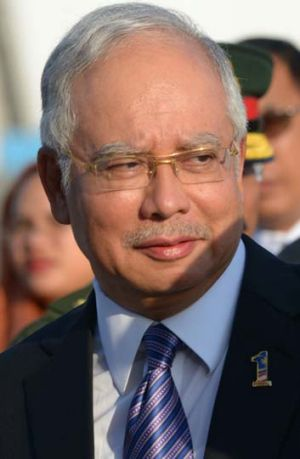 Rumours and allegations ... Najib Razak must call an election this year.