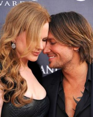 Not so shy anymore ... Nicole Kidman and Keith Urban.