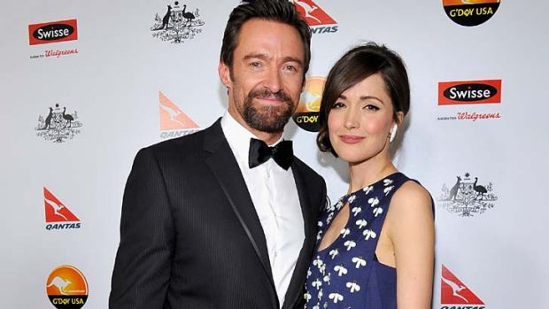 Aussie, Aussie, Aussie ... Hugh Jackman and Rose Byrne.