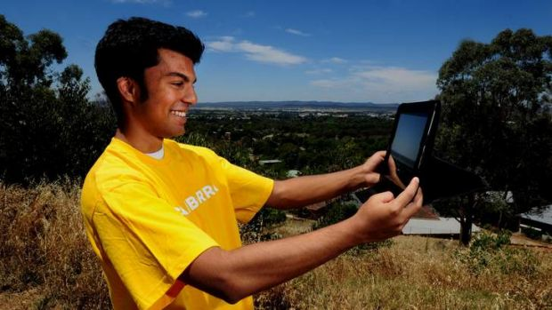 Chanuka Perera, 20, at Rocky Knob, near Narrabundah, his choice for the Like Canberra campaign.