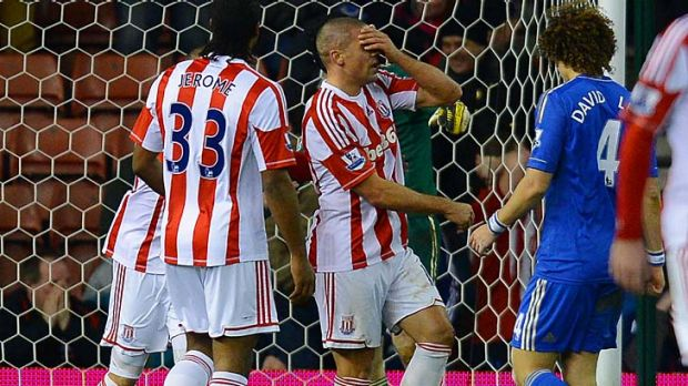 Jon Walters reacts after missing a penalty.