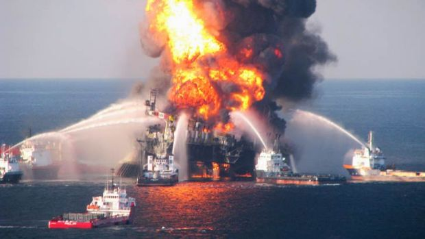 BP's Deepwater Horizon drilling rig which exploded in 2010.