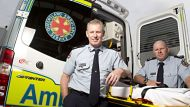 EELES AFR PHOTOGRAPH BY GLENN HUNT 290911.Qld Ambulance- R-L David Eeles and Mick Mahoney.AFR USE ONLY