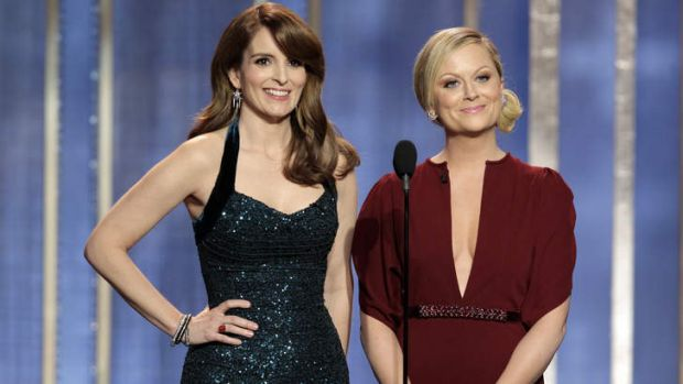 Swift response ... co-hosts of the Golden Globes Tina Fey, left, and Amy Poehler.