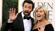"Actor Hugh Jackman of the film ""Les Miserables"" and his wife Deborra-Lee Furness at the 70th annual Golden Globe Awards ..."