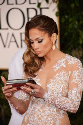 Actress/singer Jennifer Lopez arrives at the 70th Annual Golden Globe Awards held at The Beverly Hilton Hotel in Beverly ...