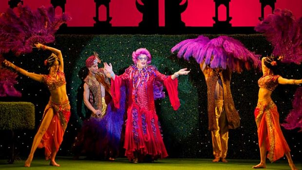 <i>Eat, Pray, Laugh</i> ... Barry Humphries as Dame Edna Everage.