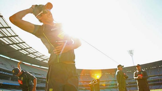 One to watch ... Mitchell Starc's injury will need to be managed.