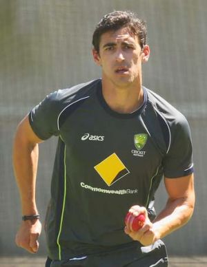 Mitchell Starc has an impingement at the front of his right ankle.