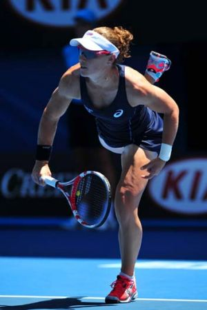 Sam Stosur at Rod Laver Arena on Monday.