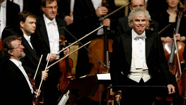 Goodbye to Berlin ... the much-lauded British conductor Simon Rattle.