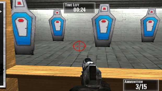 A screenshot of <em>NRA: Practice Range</em>.