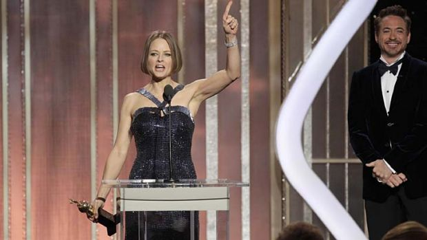 Jodie Foster ... she teased the audience's expectations.