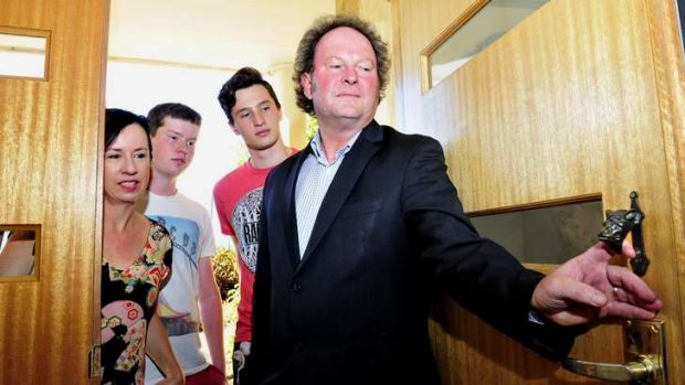 Liz Tilley and husband John Flannery with Conor Flannery, 15 and Patrick Flannery, 17 of Duffy were only able to salvage ...