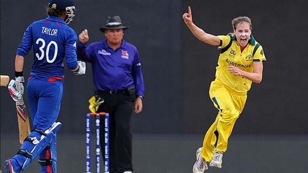 No obstacle ... England's Sarah Taylor, left, hopes to play with the men's country team Sussex. Australia's Ellyse ...