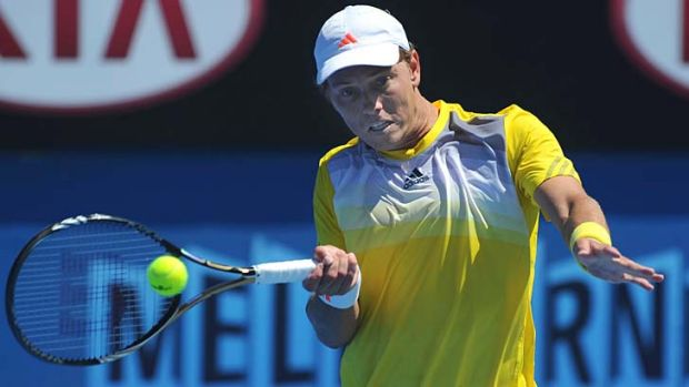 Bragging rghts ... James Duckworth outlasted friend Benjamin Mitchell in a five set epic.