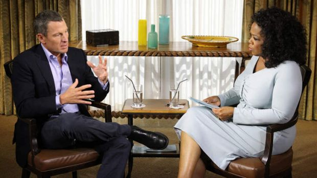 Confession ...  Lance Armstrong talks to Oprah Winfrey.