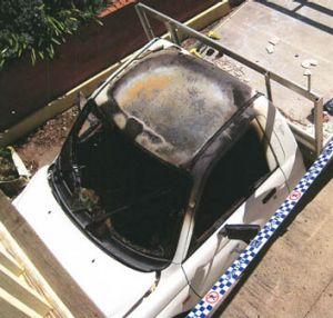 Anne Duffy was told by police not to move the burnt-out ute.