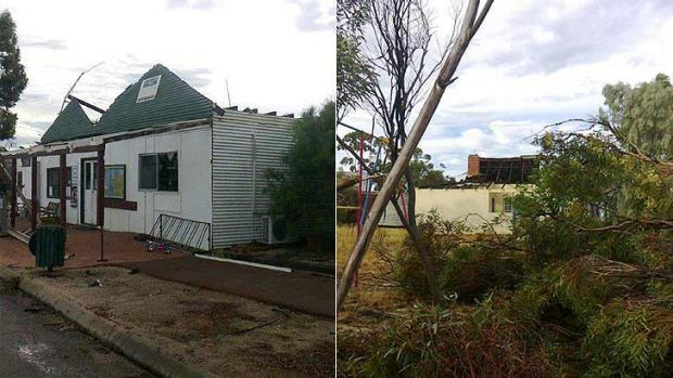 These photos, taken by Kevin Lockyer and provided by perthweatherlive.com show the damage wrought by Tuesday's storm in ...