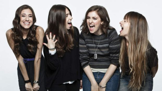 The cast of <i>Girls</i>, from left, Allison Williams (Marnie), Zosia Mamet (Shoshanna), Lena Dunham (Hannah) and Jemima ...