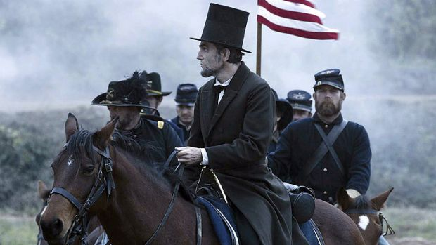 The cinematic equivalent of fine non-fiction: Daniel Day-Lewis as Abraham Lincoln in Steven Spielberg's <i>Lincoln</i>.
