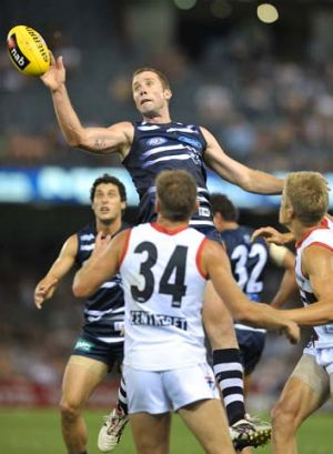 Seasoned ruckman Orren Stephenson played one season at Geelong