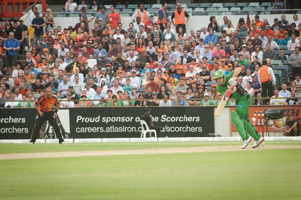 Perth Scorchers v Melbourne Stars Big Bash Match.