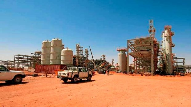 A 2005 photo of the gas field at In Amenas, Algeria .