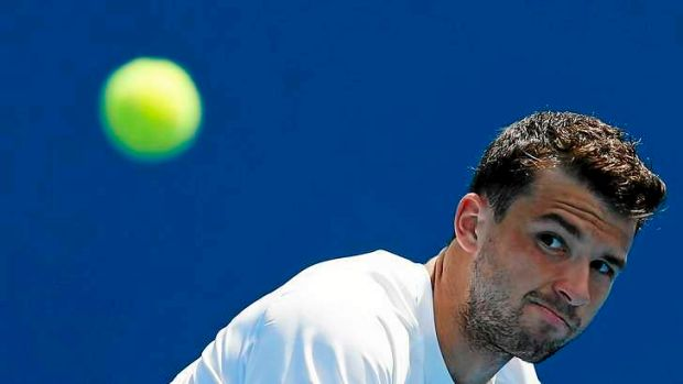 'Baby Federer' ... Grigor Dimitrov unhappy with questions concerning his private life.