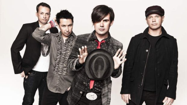 Grinspoon's Phil Jamieson (second from right), who will ride to Adelaide's BDO.
