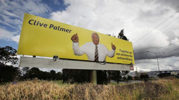 There's increasing opportunity for billboard advertisers, such as Clive Palmer, to put up billboards around Brisbane.