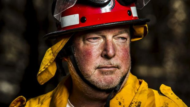 Bungendore Rural Fire Service captain Sheldon Williams was back on the ground at the Sand Hills fire site on Thursday. ...