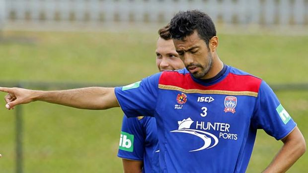 New direction … Sydney FC recruit Tiago Calvano at training during his time with the Newcastle Jets.