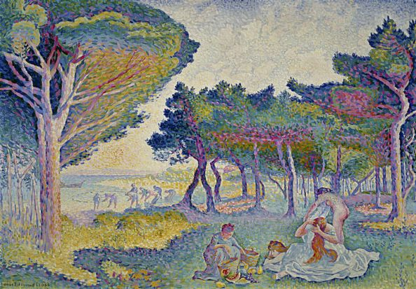 Mediterranean shores, 1895 by Henri-Edmond Cross.