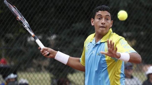 Nick Kyrgios is set to be promoted to the world?s No.1 junior ranking.