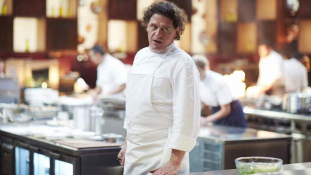 Marco Pierre White prepares to dish out some pain in <i>MasterChef: The Professionals</i>.