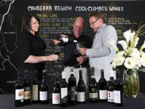 Dickson Tradies general manager, Alison Percival, Shaw Vineyards winemaker Graeme Shaw and Tradies Group chief executive ...