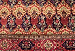 A 100 per cent silk antique rug.