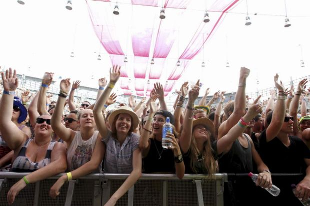 Crowd at Big Day Out in Sydney.
