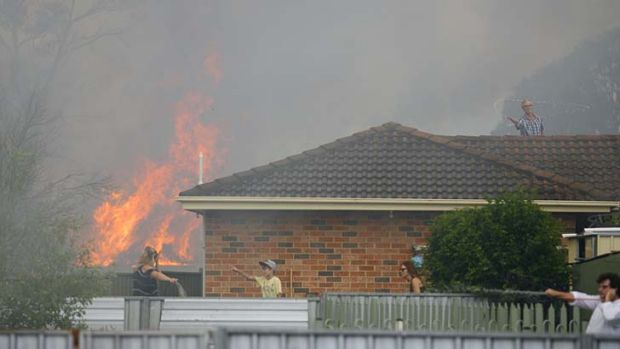 Residents fight fires ... in Aberdare, near Cessnock.