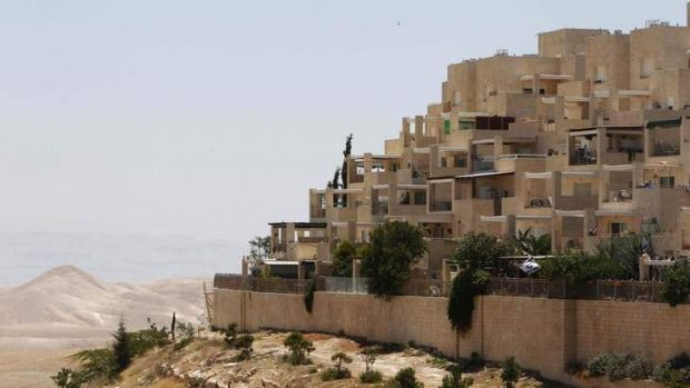 Fight for territory: Apartments in the West Bank settlement of Maale Adumim.