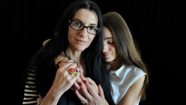 Artist Polixeni Papapetrou with her daughter, Olympia.