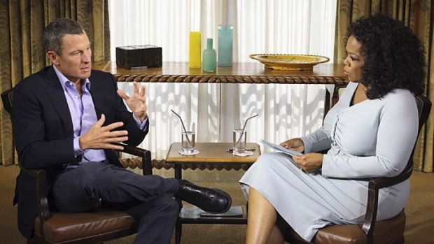 """I made my bed"" ... Lance Armstrong talks with Oprah Winfrey."