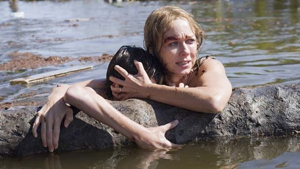 Hope floats ... Naomi Watts and Tom Holland in <em>The Impossible</em>.